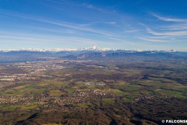 Le Mont Blanc Vu de Genève