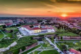 Sunset over the Vanubian style fortress of Oradea