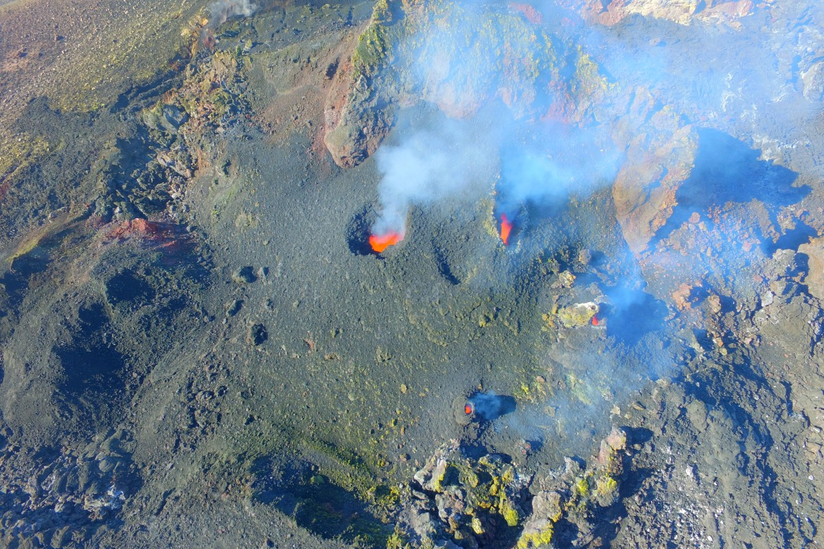 The smoking volcano