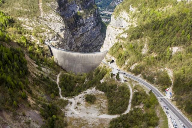 Vajont dam, Dolomites, Italy (with 360 interactive panorama)