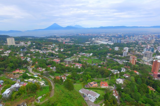 Guatemala-City and the volcanos