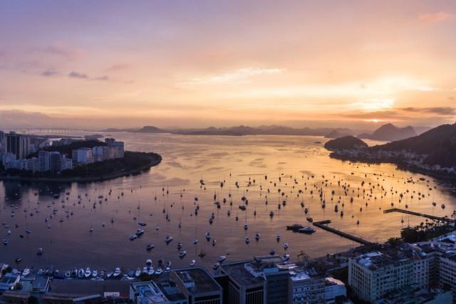 Raining Sunrise, Rio de Janeiro, RJ, Brazil.