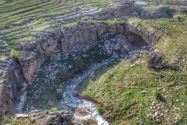 Natural bridge in Faqra, Lebanon