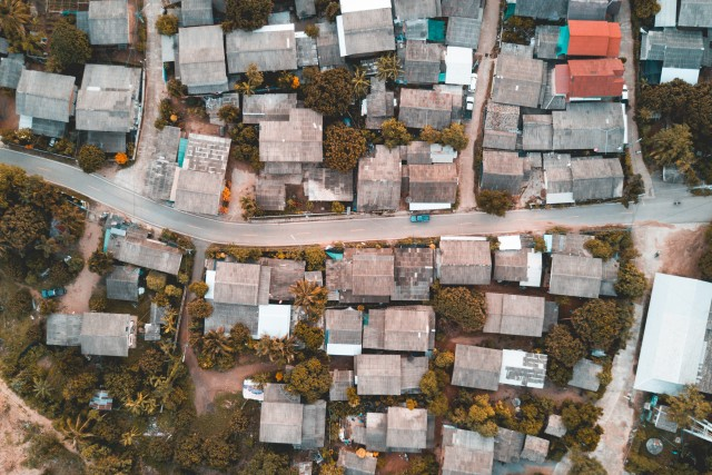 Aerial Shot – Mountain Village Northern Thailand