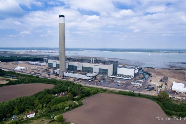 Power station chimney