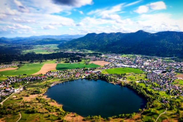 Hometown lake from above for the first time