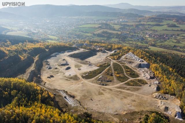 Autumn in quarry
