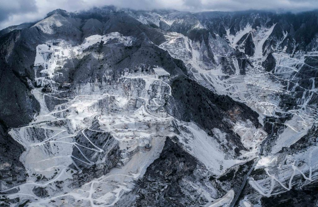 Marble Quarry Of Massa Carrara Tuscany Italy Dronestagram