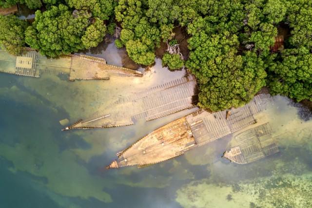 Garden Island Ship Graveyard