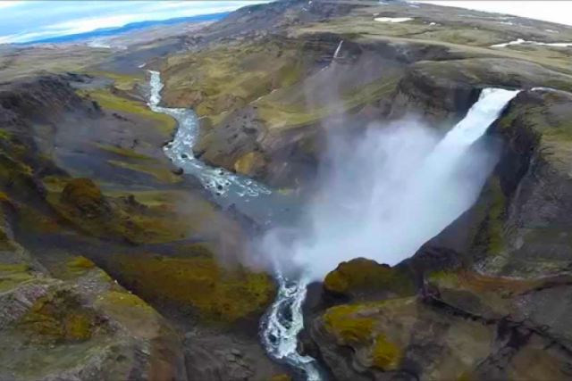 A Drone in Iceland