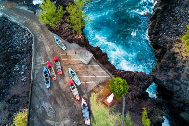 Barques, marine langevin, reunion island