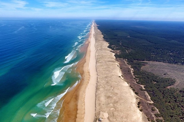 Beach Lette Blanche, region of Landes