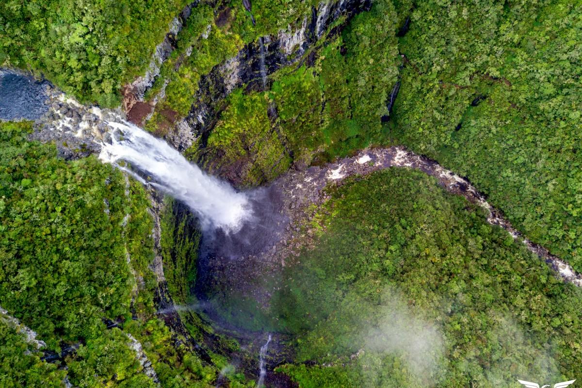 Cascade du bras Noir, Saint Benoit, Reunion island