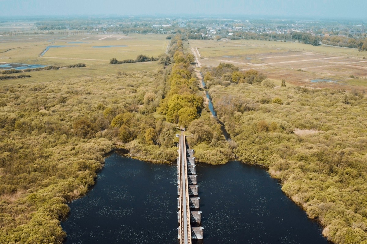 Old railroad bridge in Moerputten, Den Bosch, The Netherlands