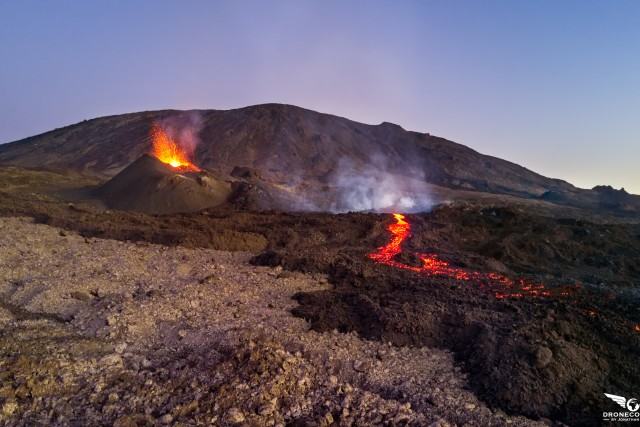 Eruption fev. 2017, Piton de la fournaise, Reunion