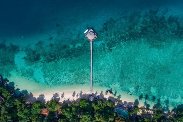 Floating in Tioman Island, Malaysia