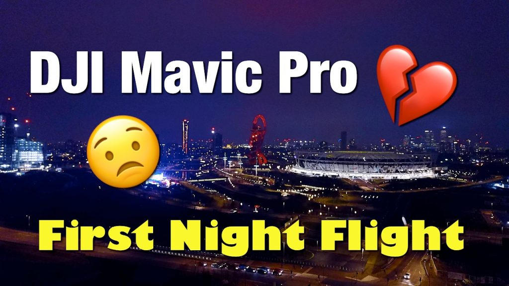 Mavic Pro Night Footage Stratford London