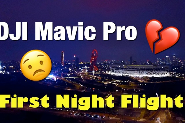 Mavic Pro Night Footage, Stratford London