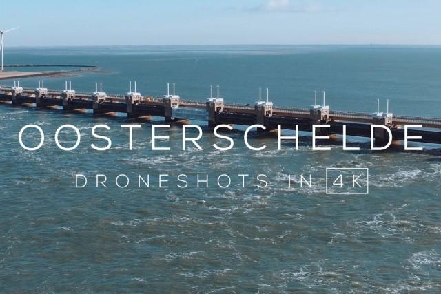 Oosterscheldekering (Deltawerk) in 4K | Drone video