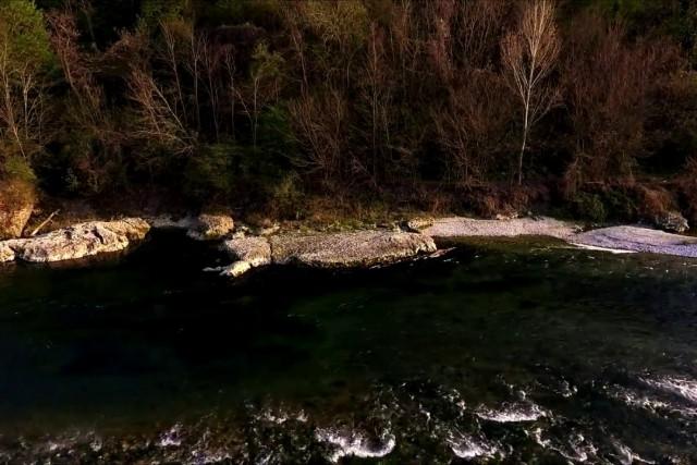 Piave River at sunset