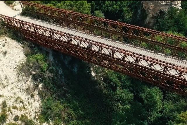 The Metal bridge of Trozena