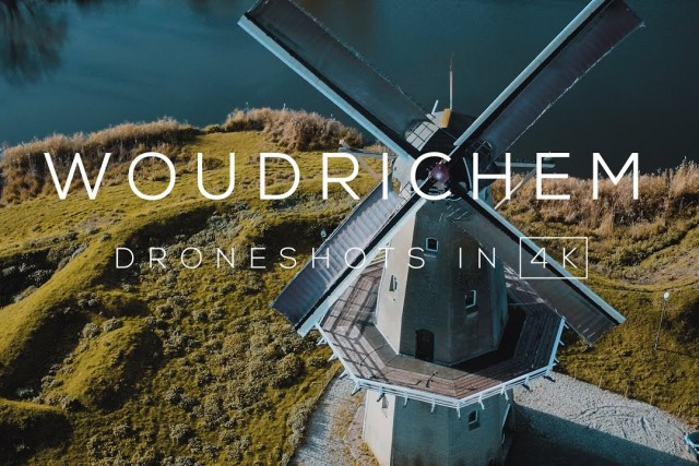 Woudrichem, Noord-Brabant, The Netherlands in 4K | Drone video