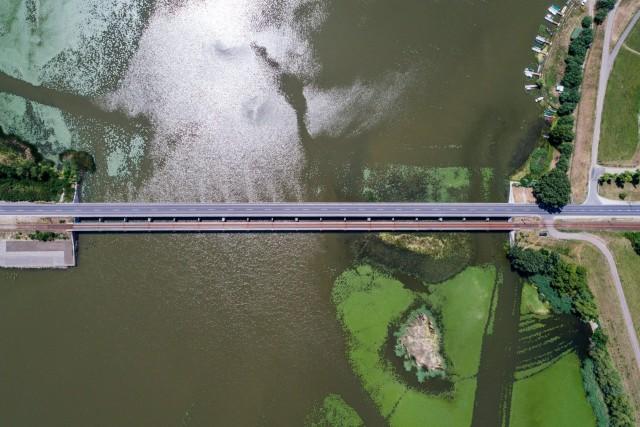 Tisza lake bridge