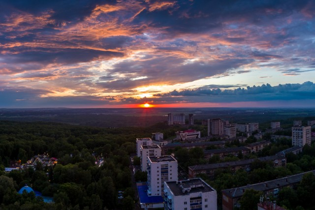 Sunset in Ufa