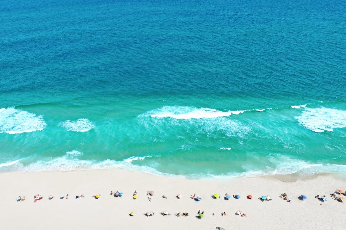 """A winter day"" in Barra da Tijuca Beach,  Rio de Janeiro."