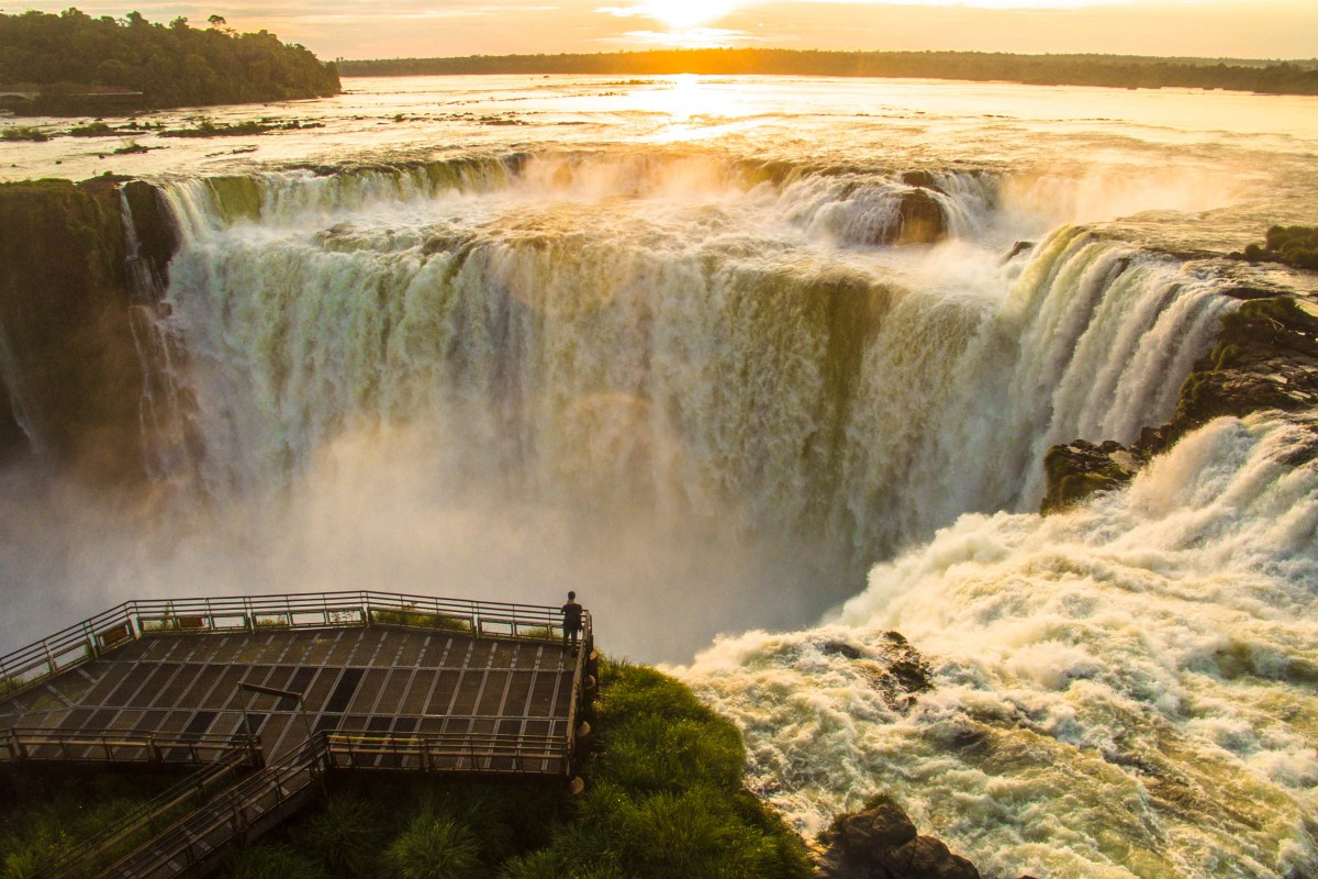 Sunrise at the Iguazu Falls Balcony