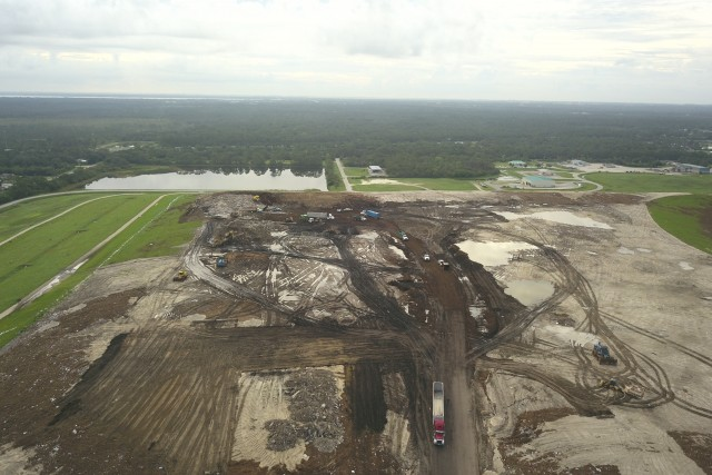 A Day at the office of a solid waste landfill, Brevard County, Florida