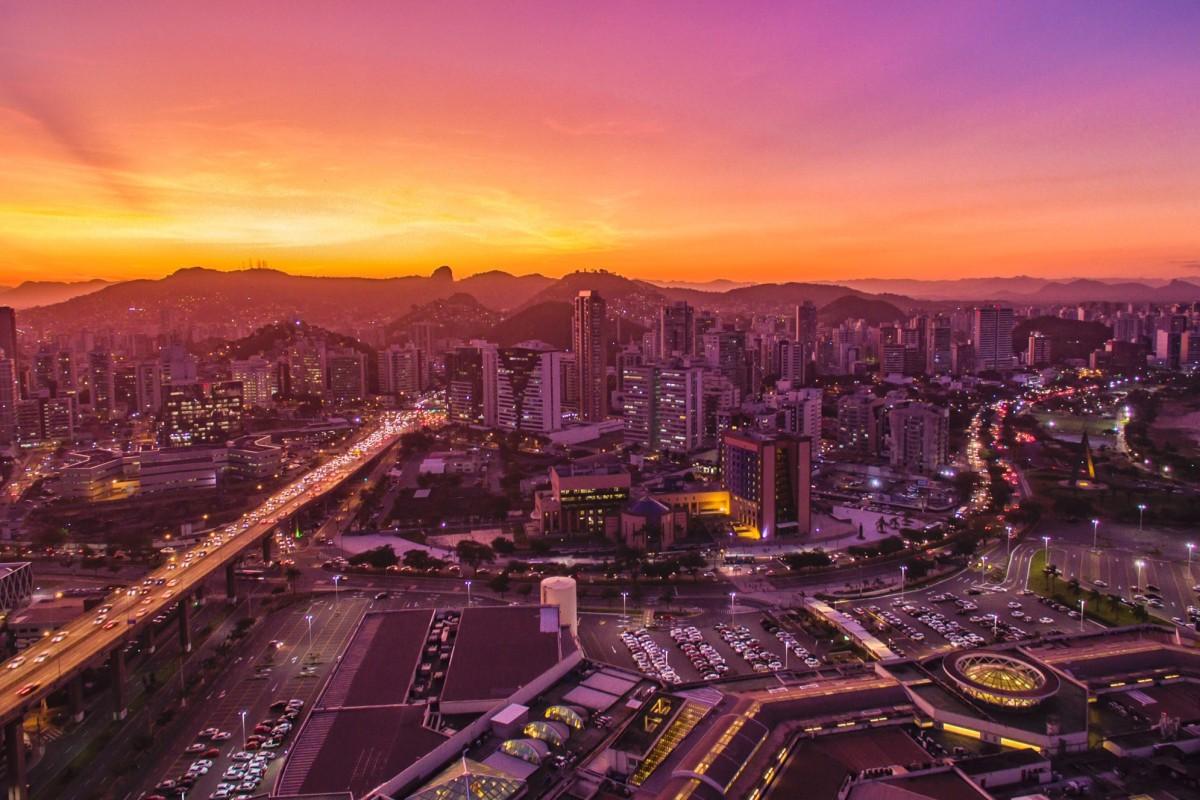 Pôr do sol, Vitória, ES, Brasil