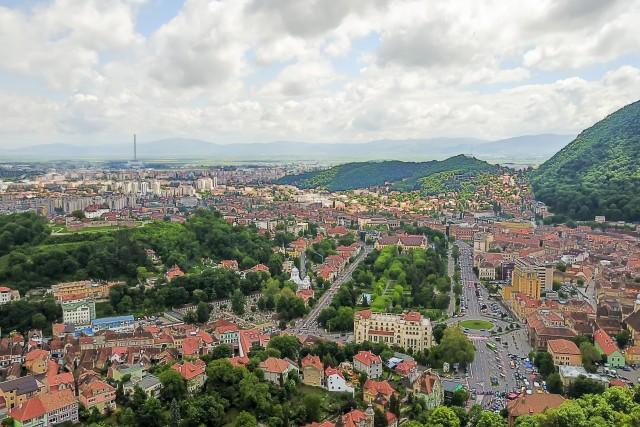 Brasov , Romania , aerial view