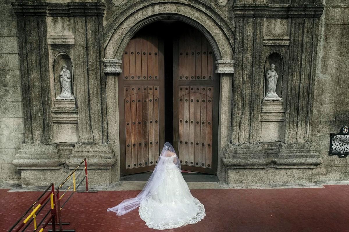 Bridal Entrance At St Andrews Church Dronestagram
