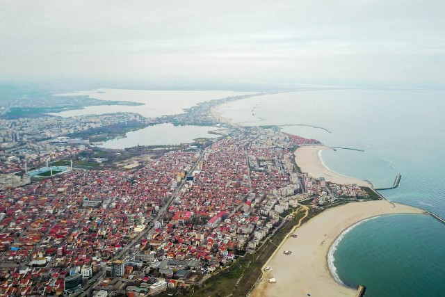 Constanta , city on the Black Sea Coast