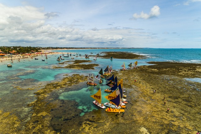 Boats on Porto de Galinhas, Pernambuco, Brazil