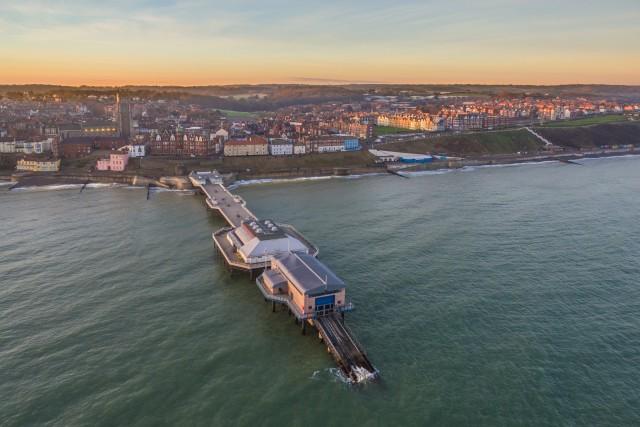 Cromer Pier, North Sea, Norfolk at sunrise