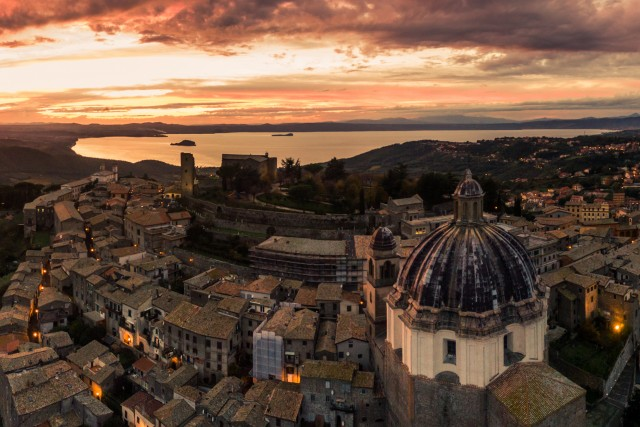 Sunset in Montefiascone, Italy