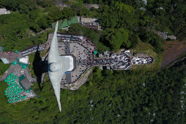 Christ the Redeemer, from above