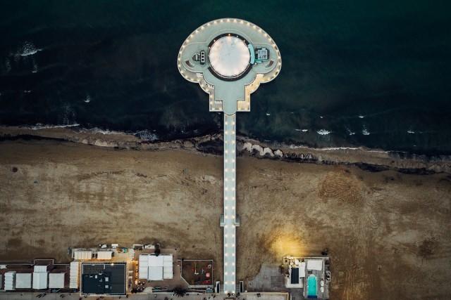 The roundabout at Senigallia sea