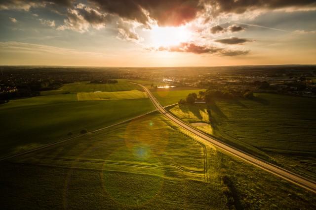 Sunset over Naestved Denmark 2017