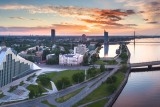 Sunset in Riga