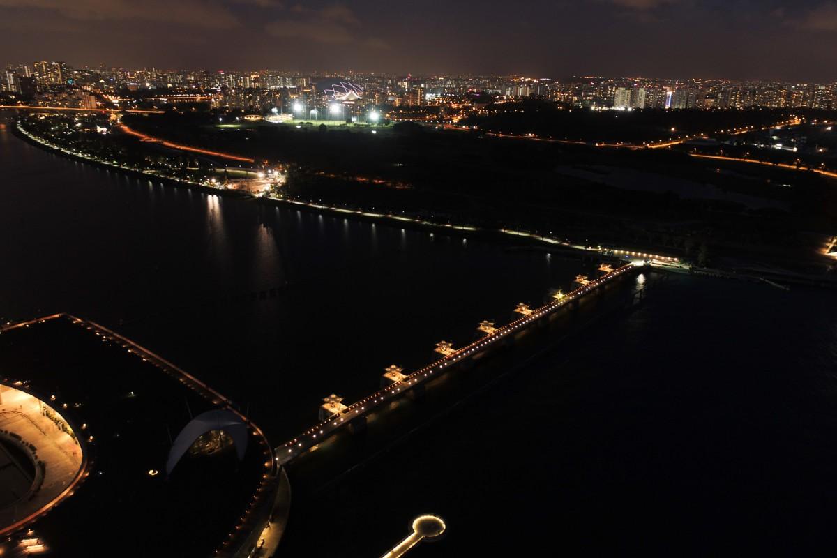 Marina Barrage Night Shot
