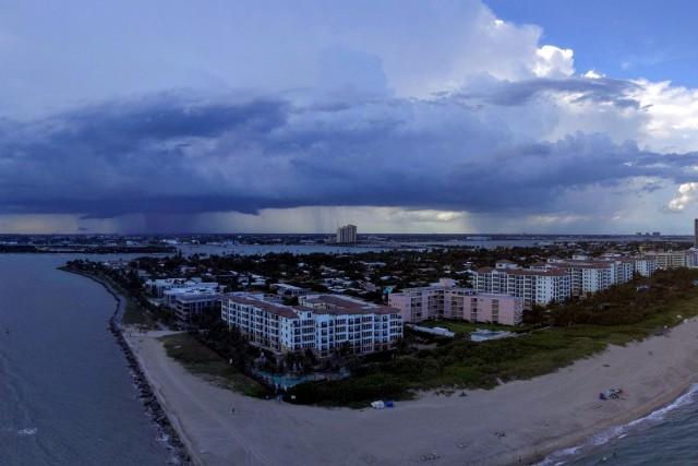 Storm at Singer Island Florida USA