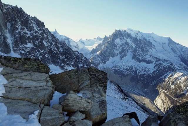 Mont Blanc and the ALpine peaks of Chamonix