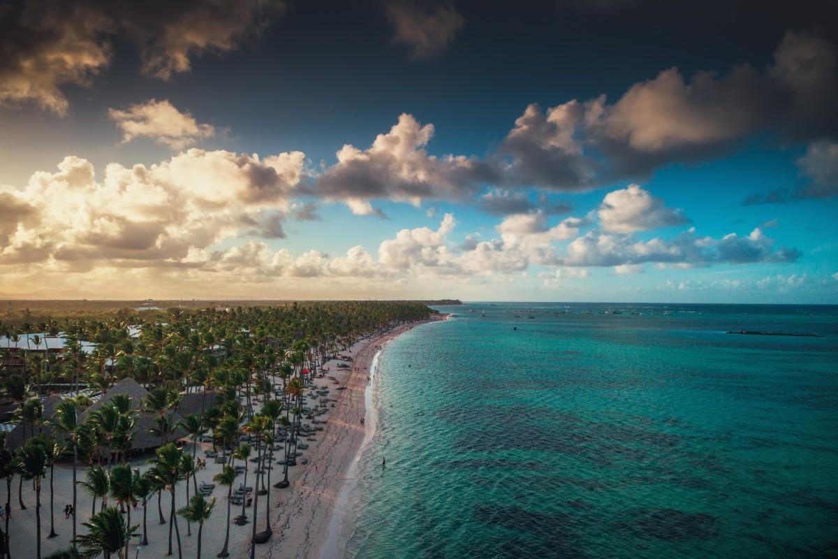 Tropical island beach, Dominican Republic