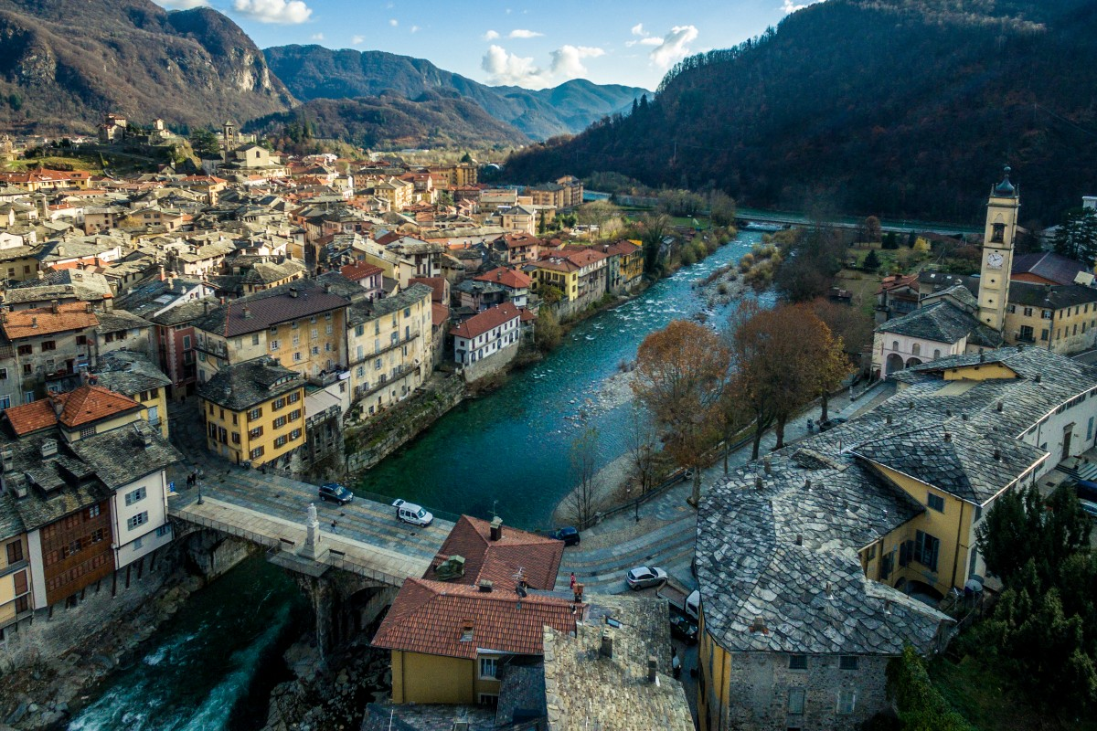 Two sides of Varallo Sesia