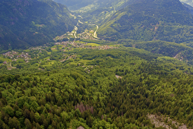 the Vllage of Passy in the Mont Blac Valley of the french alps