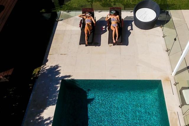 Photoshoot over the pool