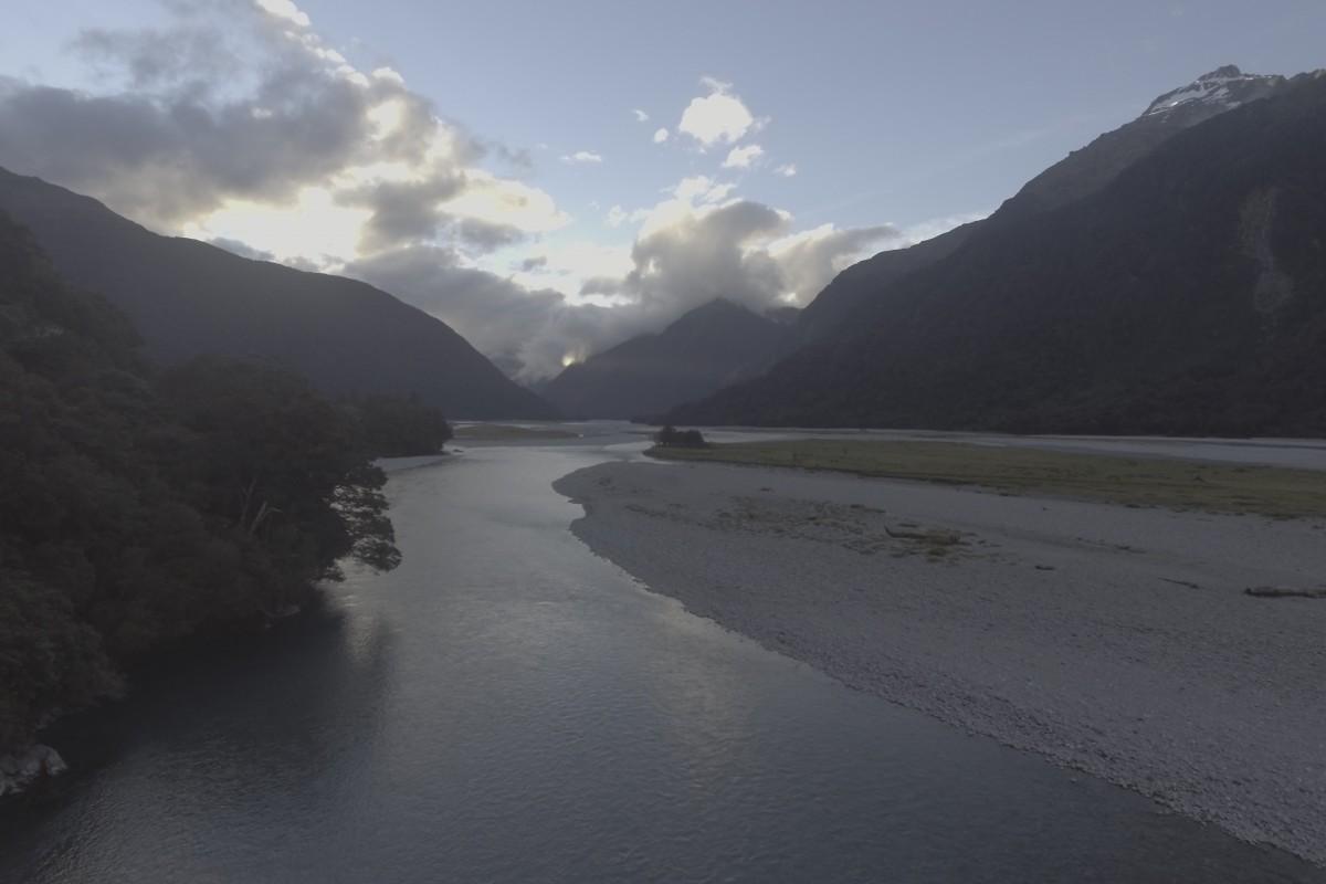 Haast River South island New Zealand